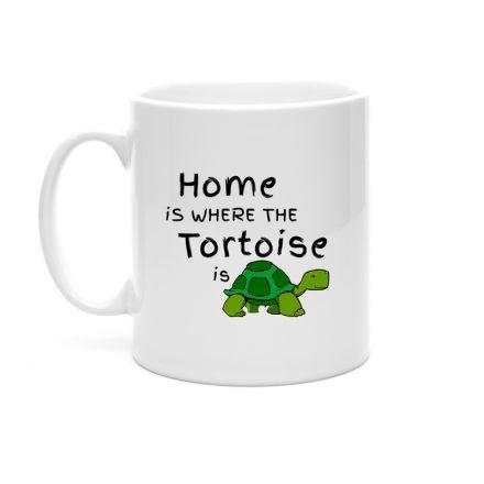 Home Is Where The Tortoise Is Mug Gift For Tortoise Lovers