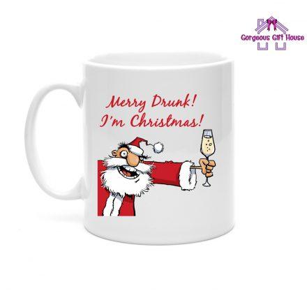 Merry Drunk I'm Christmas Mug