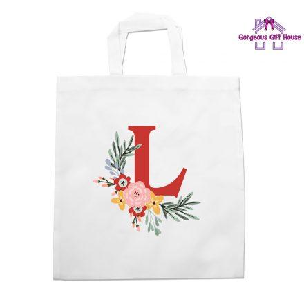 Personalised Initial Flower Tote Bag