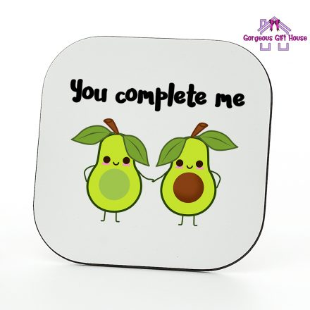 avocado you complete me coaster