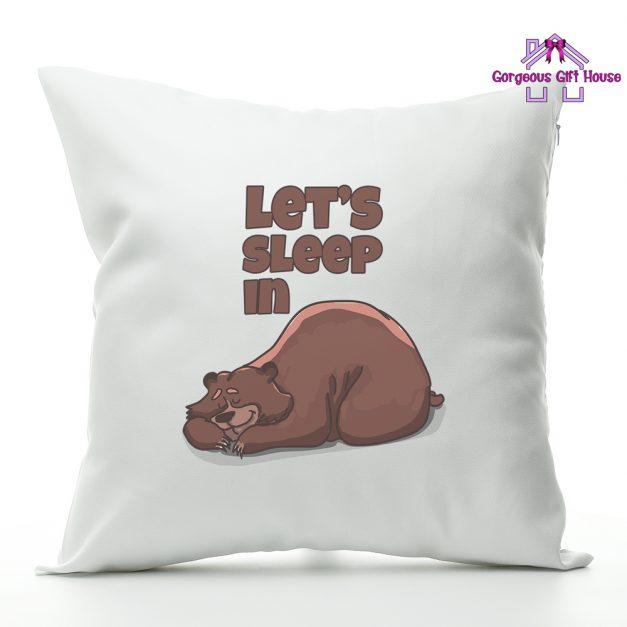 lets sleep in - cushion gift