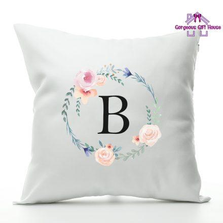 Wreath Initial Cushion