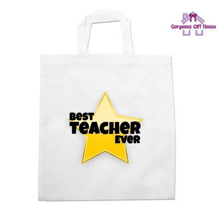 Best Teacher Ever Star Tote Bag