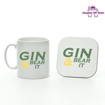 Gin & Bear It Mug And Coaster Set