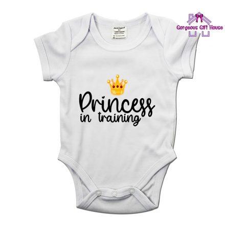 princess in training babygrow - fun baby gifts