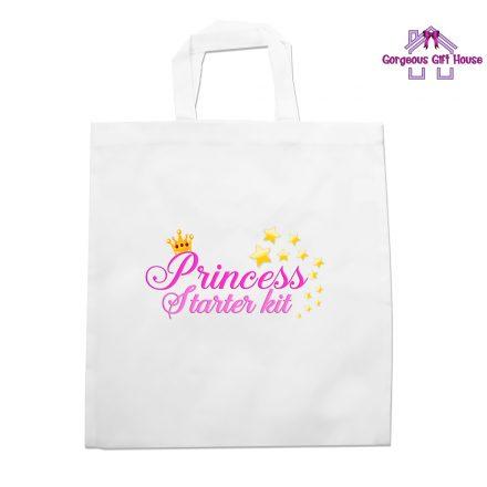 princess starter kit tote bag - girls birthday gift