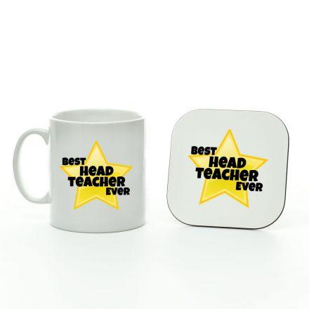 Best Head Teacher Ever Star Mug And Coaster