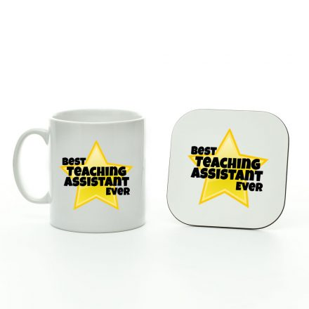 Best Teaching Assistant Ever Star Mug And Coaster