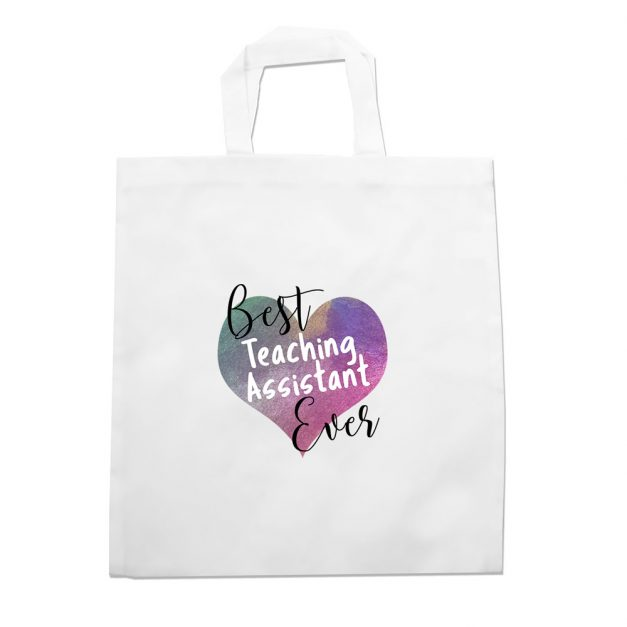 Best Teaching Assistant Ever Heart Tote Bag