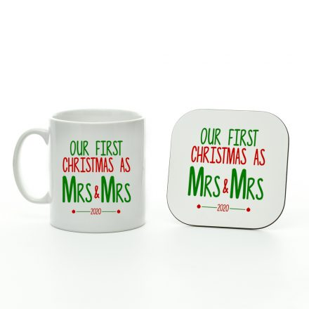 Our First Christmas As Mrs & Mrs 2020 Mug and Coaster