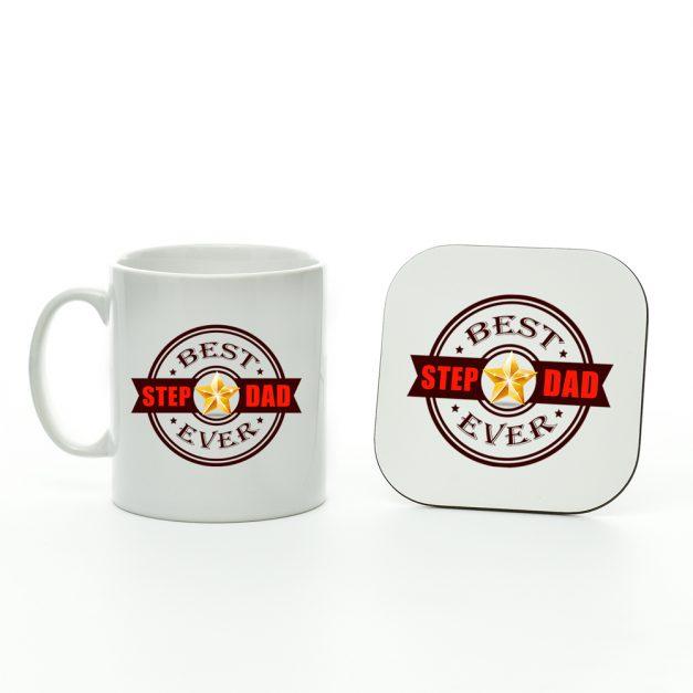 best step dad ever mug and coaster set