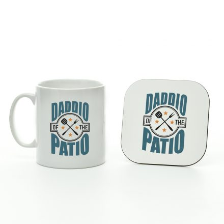 daddio of the patio mug and coaster set