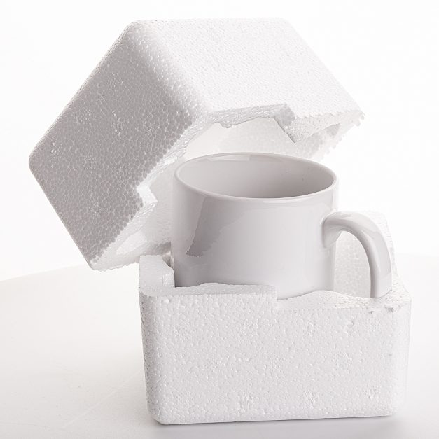 Each Mug Has Its Own Polystyrene Container