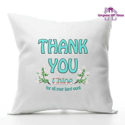 thank you personalised cushion