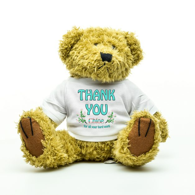 thank you personalised teddy