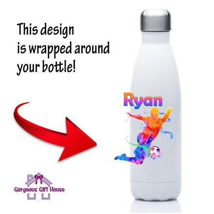 personalised football drinks bottle
