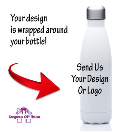 Personalised Cola Bottle In White Using Your Own Artwork, Photograph or Business Logo