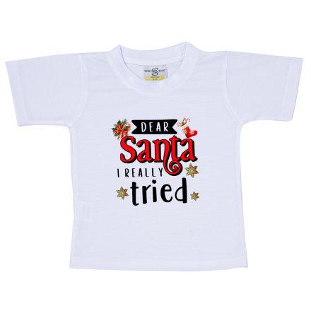 santa i really tried t-shirt