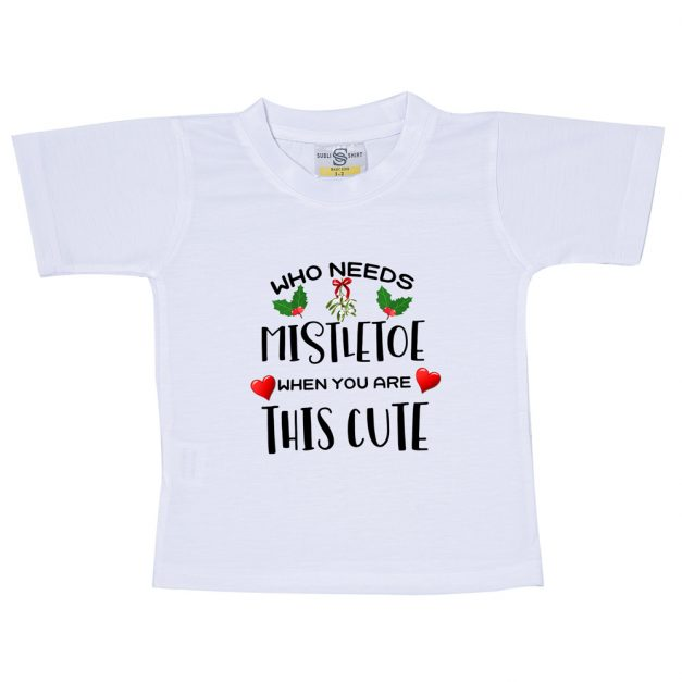 who needs mistletoe when youre this cute tshirt