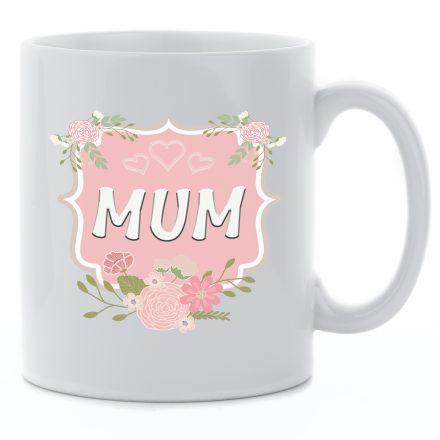 floral frame mum mug