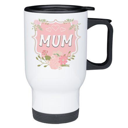 floral frame mum travel mug