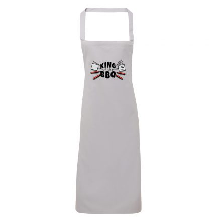 king of the bbq apron silver grey