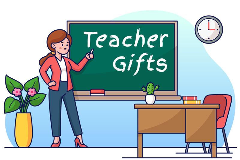 Teacher Gifts Illustration