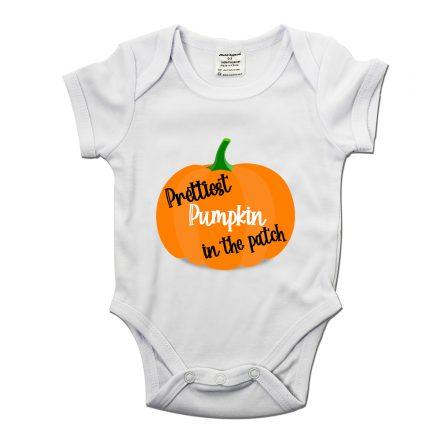 prettiest pumpkin in the patch baby grow